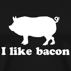 Black I like Bacon Men - Men's Premium T-Shirt