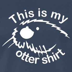Navy This Is My Otter Shirt Men - Men's Premium T-Shirt