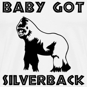 White Baby Got Silverback Men - Men's Premium T-Shirt