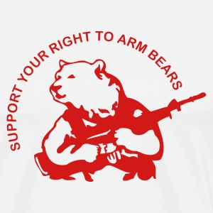 White arm bears Men - Men's Premium T-Shirt