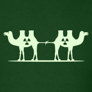 Camel Tug (Glow in the Dark) - Men's T-Shirt