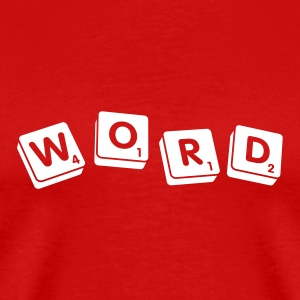Red Word Men - Men's Premium T-Shirt