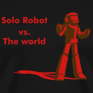 Robot Vs. The World - Men's Premium T-Shirt