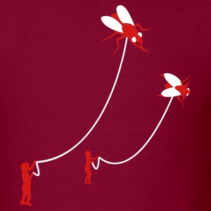 Burgundy Flies Men - Men's T-Shirt