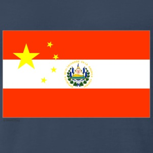 Navy China Elsalvador T-Shirts - Men's Premium T-Shirt