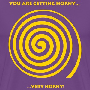 Purple Getting Horny Men - Men's Premium T-Shirt