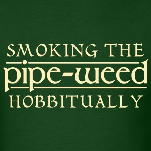 Forest green Smoking The Pipe-Weed Hobbitually Men - Men's T-Shirt