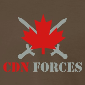 Chocolate Canadian Forces Cross Men - Men's Premium T-Shirt