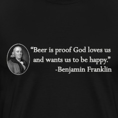 Ben Franklin Beer Quote