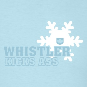 Sky blue Whistler Kicks Ass Men - Men's T-Shirt