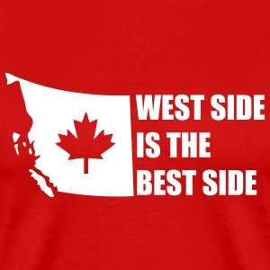 Red West Side is the Best Side T-Shirts - Men's Premium T-Shirt