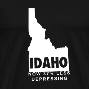 Black Idaho Men - Men's Premium T-Shirt