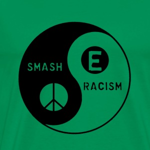 Bright green Smash Racism Men - Men's Premium T-Shirt