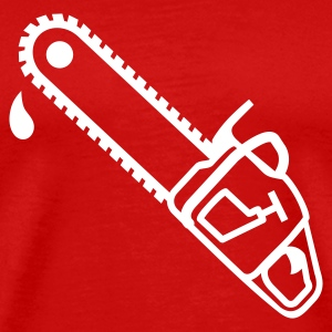 Red Chainsaw T-Shirts - Men's Premium T-Shirt