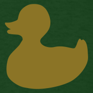 Design ~ duckie - gold on green
