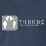 Design ~ thinking - grey on navy