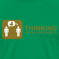 Design ~ thinking - gold on green