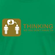 Design ~ thinking - gold on green