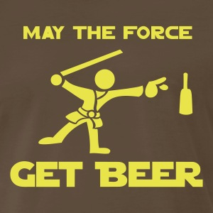 Chocolate May the Force GET BEER Men - Men's Premium T-Shirt