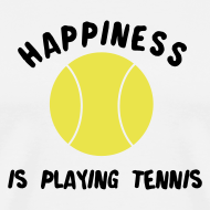 Design ~ happinessistennis (white)