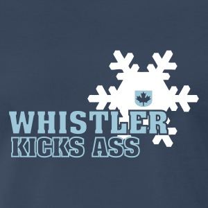 Navy Whistler Kicks Ass Men - Men's Premium T-Shirt