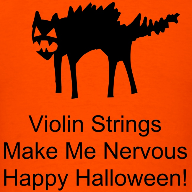 Violin Strings Cat--Halloween