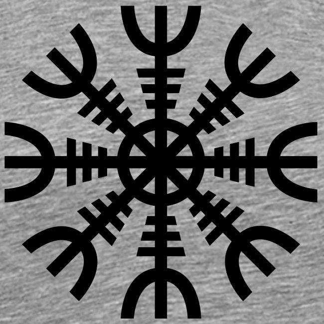 2028d3af8 Fenriswulf | Aegishjalmur: The Helm of Awe - Ash - Mens Premium T-Shirt