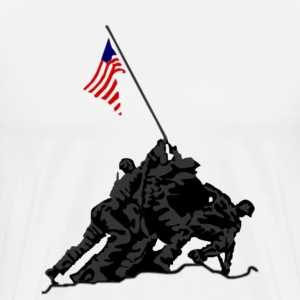 Iwo Jima Graphic - Men's Premium T-Shirt