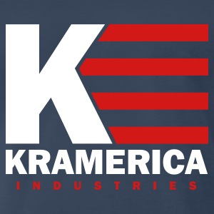 Navy Kramerica Industries Men - Men's Premium T-Shirt
