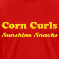 Design ~ CORN CURLS - SUNSHINE SNACKS - T-SHIRT - IZATRINI.com