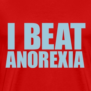 Red I BEAT ANOREXIA Men - Men's Premium T-Shirt