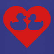 Design ~ duckies of love - red on blue