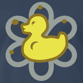 Design ~ atomic duckie - navy