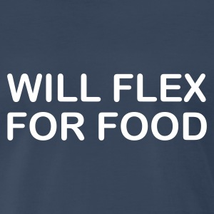 Navy will flex for food Men - Men's Premium T-Shirt