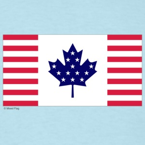 Sky blue canada usa T-Shirts - Men's T-Shirt
