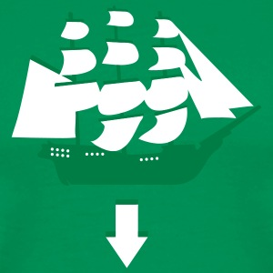 Bright green Tri-Masted Spanish Galleon Men - Men's Premium T-Shirt