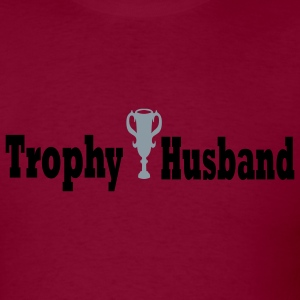 Burgundy Trophy Husband Men - Men's T-Shirt