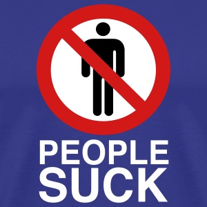 Royal blue People SUCK Men - Men's Premium T-Shirt