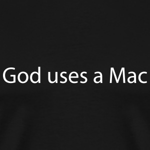 Black God uses a Mac Men - Men's Premium T-Shirt
