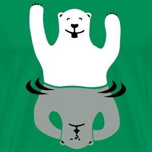 Bright green Bipolar bear Men - Men's Premium T-Shirt