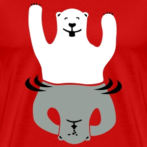 Red Bipolar bear Men - Men's Premium T-Shirt
