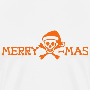 merry xmas skull - Men's Premium T-Shirt