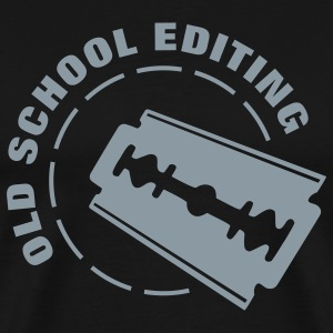 Old School Editing T-Shirts - Men's Premium T-Shirt