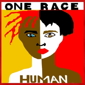 One Race Human Red T-shirt - Men's Premium T-Shirt