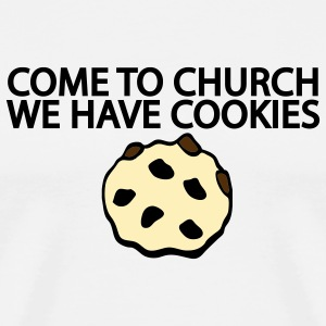 White Come to Church we have Cookies Men - Men's Premium T-Shirt