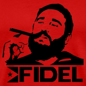 Red Fidel Castro - Cuba - Revolution Men - Men's Premium T-Shirt