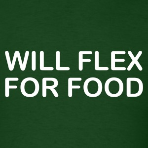 Forest green will flex for food Men - Men's T-Shirt