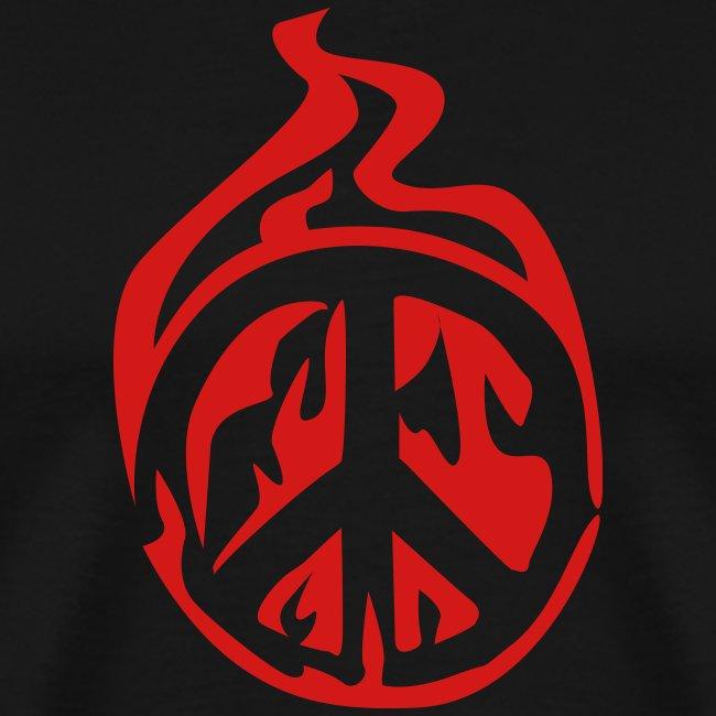 peace sign fire