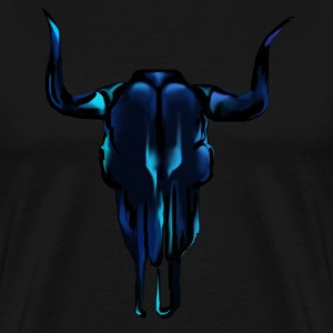 Black Steer Skull - Men's Premium T-Shirt