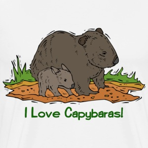 I Love Capybaras - Men's Premium T-Shirt